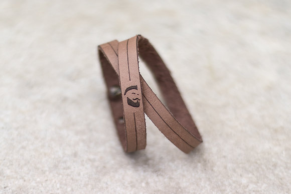 Bracelet cuir logo