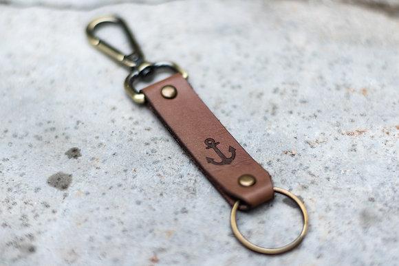 Porte-clés en cuir coupe-choux