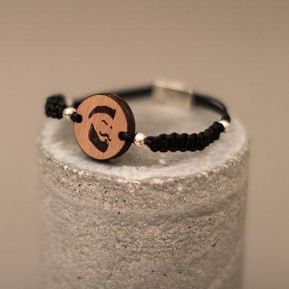 Bracelet en bois et macramé – motif Punkster