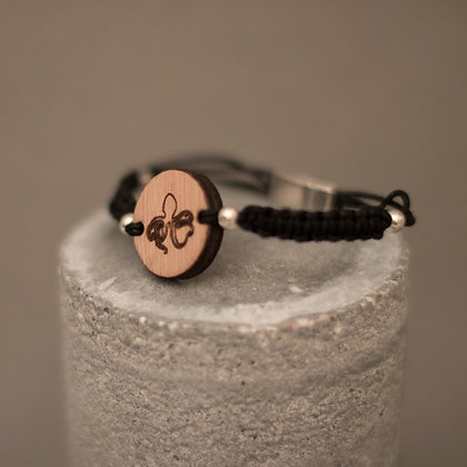 Bracelet en bois et macramé – motif poulpe