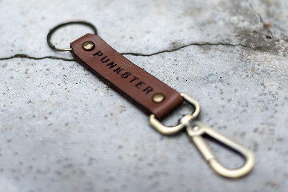Porte-clés en cuir Punkster