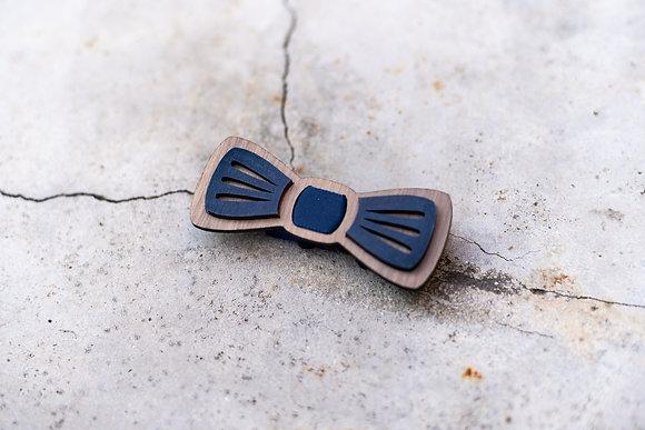 Nœud papillon en bois pour enfants « Moustache »