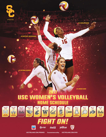 2017 USC Women's Volleyball Poster