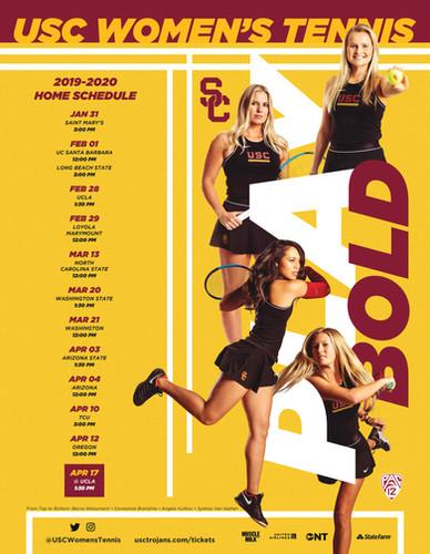2019 USC Women's Tennis Poster