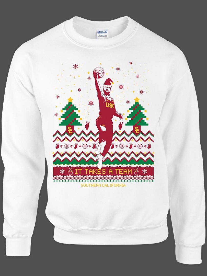 2017 USC Men's Basketball Christmas Swea