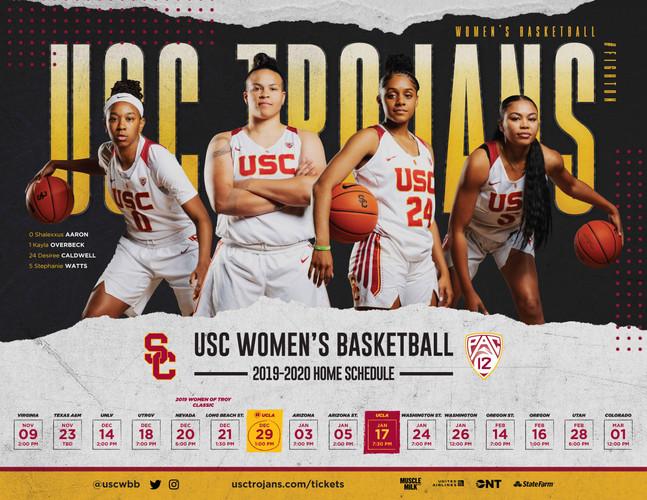 2019 USC Women's Basketball Poster