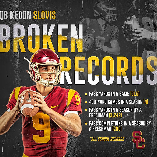 2019 USC Football QB Kedon Slovis
