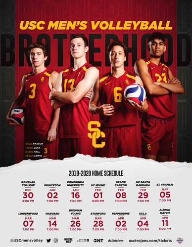 2018 USC Men's Volleyball Poster