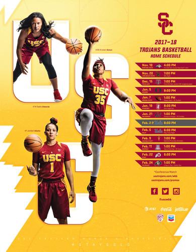 2017 USC Women's Basketball Poster