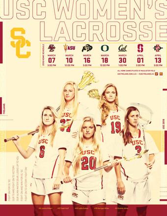 2018 USC Women's Lacrosse Poster