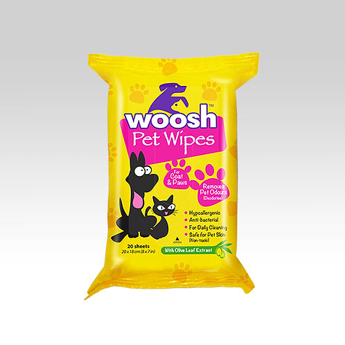 Woosh Pet Wipes 20s