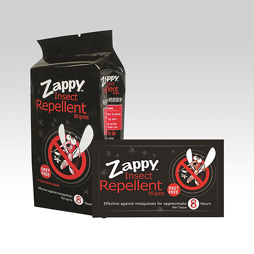 Zappy Insects Repellent 8s Wipes
