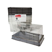 FOCstore Takeaway Box with Transparent Flat Lid