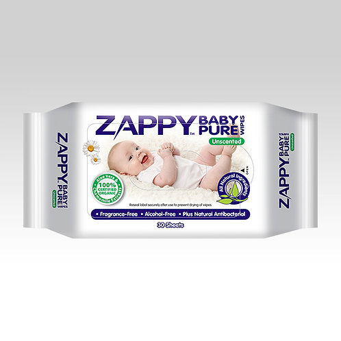 Zappy Baby Pure 30s Wipes