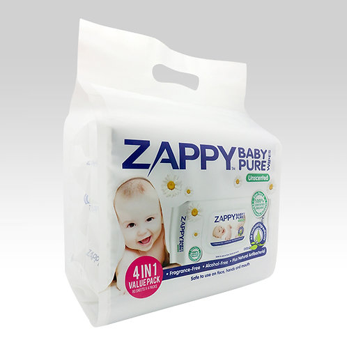 Zappy Baby Pure 80s Wipes Value Pack