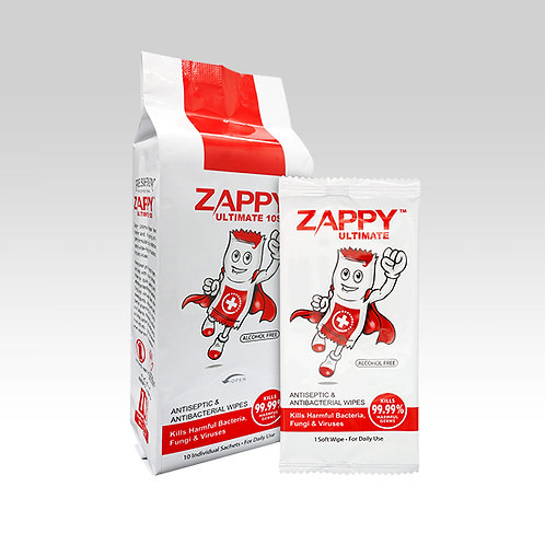 Zappy Ultimate Antiseptic 10S Wipes