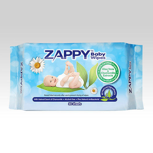 Zappy Baby 30s Wipes