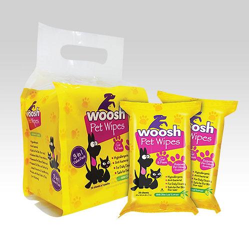 Woosh Pet Wipes 20s Value Pack