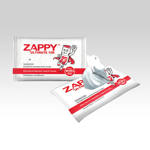 Zappy Ultimate Antiseptic 10R Wipes