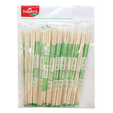 FOCstore 8-inch Bamboo Chopstick with Plastic Wrapper