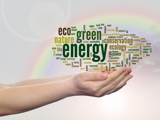 Concept or conceptual abstract green eco