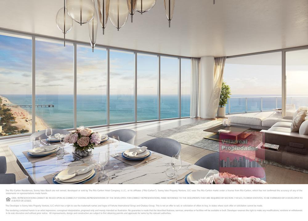 The Ritz-Carlton Residences, Sunny Isles Beach - 16 North Unit Main Living