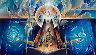 Blue Spiritual Goddess Art