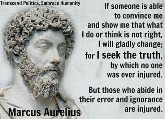 Marcus Aurelius Seek Truth Quote