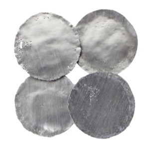 Silver Circular Metal Disks