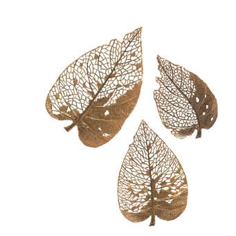Large Metal Leaves