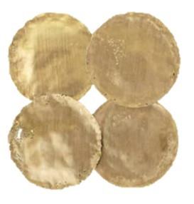 Gold Circular Metal Disks