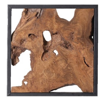 Framed Sliced Wood Tile