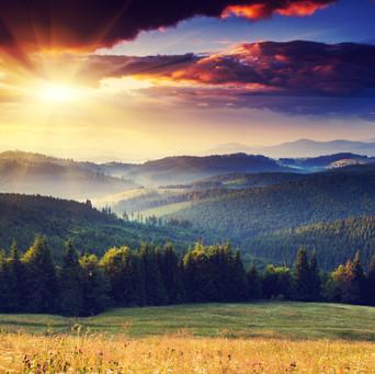 Mountain Hills Sunset