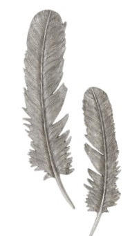 Silver Feathers Pair