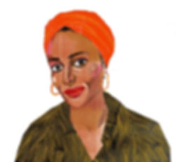 Zadie Smith illustraton from Nylon Magazine.