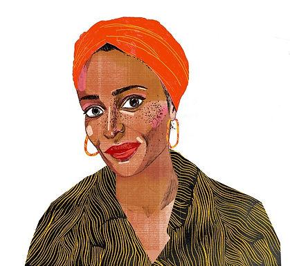 Zadie Smith illustraton from Nylon Magazine.