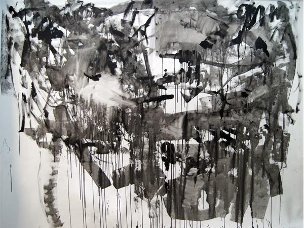 a black + white view