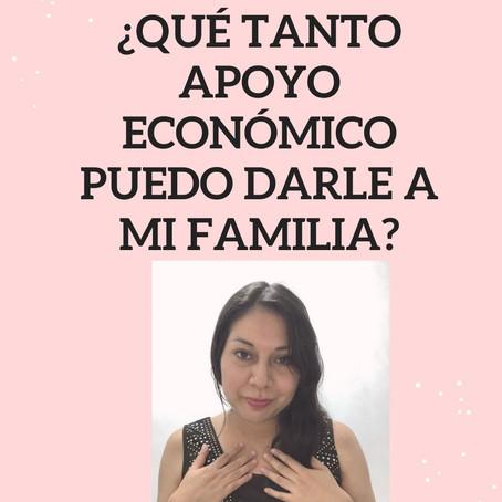 ¿Qué tanto apoyo económico puedo darle a mi familia?