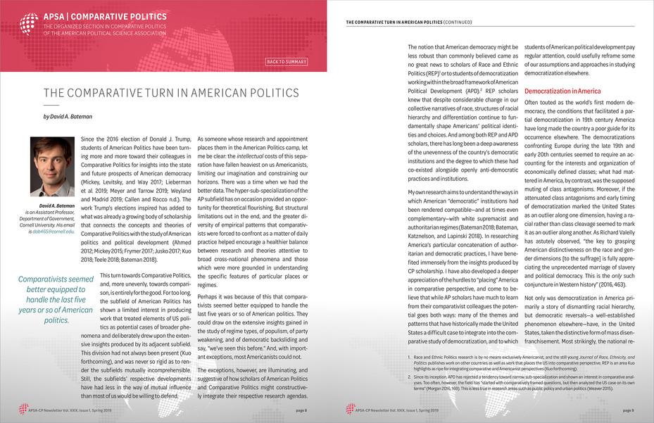 APSA Comparative Politics