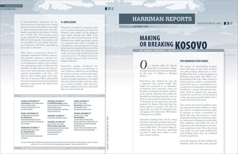 Harriman Reports