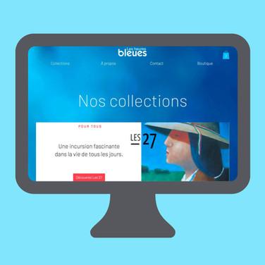 Site web Éditions Les heures bleues
