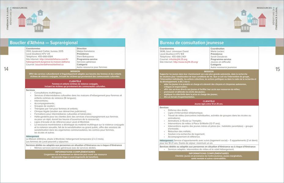 Répertoire des ressources en itinérance à Laval