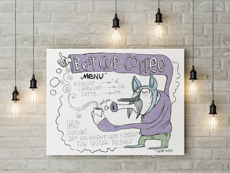 """Best Cup Coffee""  (digital)"