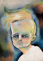 """""""Porträt eines Mannes, den ich mal in der Bahn treffen werde""""  (digital)"""