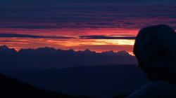 Sunset in den Südalpen