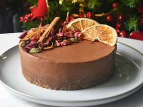 No Bake Vegan Orange Dark Chocolate Mousse Cake | Delia.v Life
