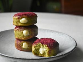 Matcha Brioche Sugar Donuts - How To Make Vegan Fried Yeast Donuts | Delia.v Life