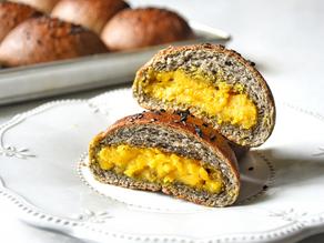 Vegan Moon Buns (Sesame & Pumpkin Custard Buns) | Delia.v Life