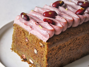 Best Vegan Matcha Adzuki Loaf Cake | Delia.v Life