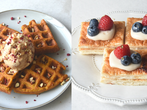 3 Ingredients Pumpkin Chai Waffles & Custard Danish Pastry | Delia.v Life